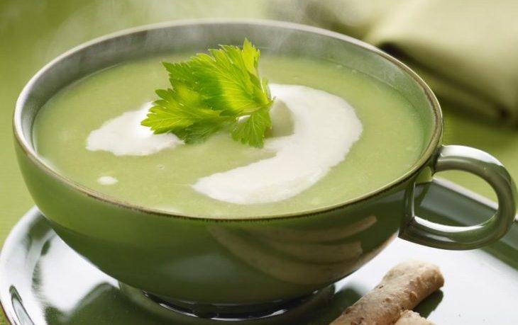 суп пюре из сельдерея стеблевого