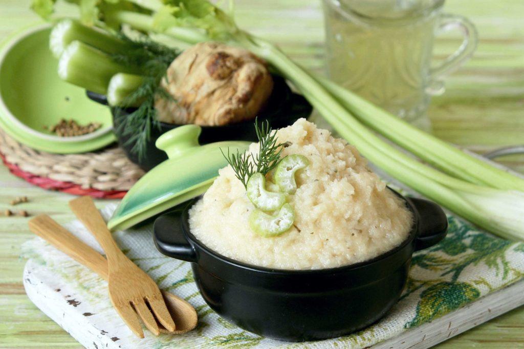 Рецепты пюре из сельдерея корневого, с тыквой, брокколи