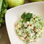 Рецепты салатов с сельдереем и яблоком: Дамский, Вальдорф, Белые ночи, Дебют