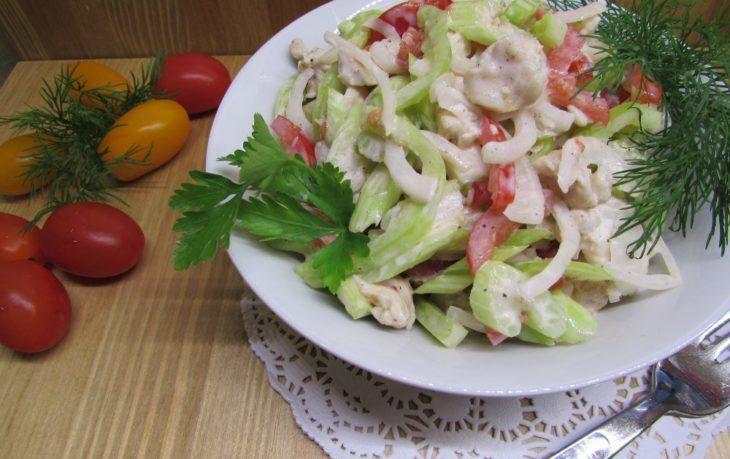 Рецепты приготовления салатов с черешковым сельдереем
