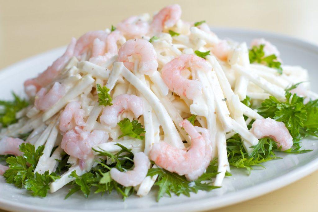 Рецепты сельдерея с креветками, кальмаром, форелью, скумбрией