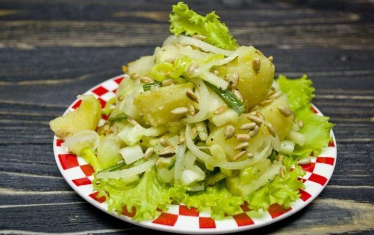 постный салат с сельдереем рецепт