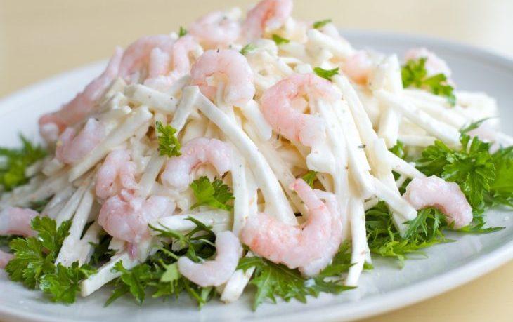 салат с сельдереем и креветками рецепт