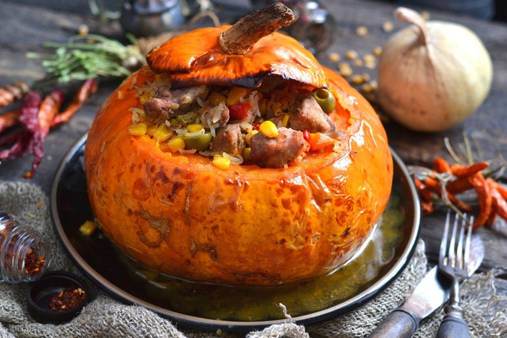 Рецепты блюд из тыквы с мясом