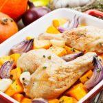Рецепты тыквы в духовке с сыром, курицей, индейкой