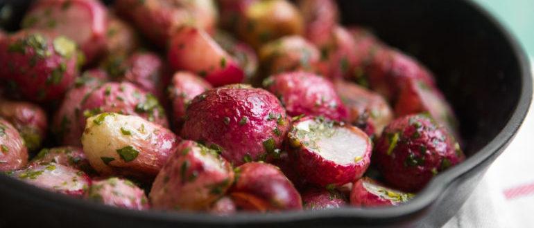 жареная редиска на сковороде рецепты